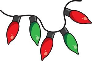 Free Christmas Lights Clip Art Image Clipart Illustration Of A String Of Red And Green Christmas Lights