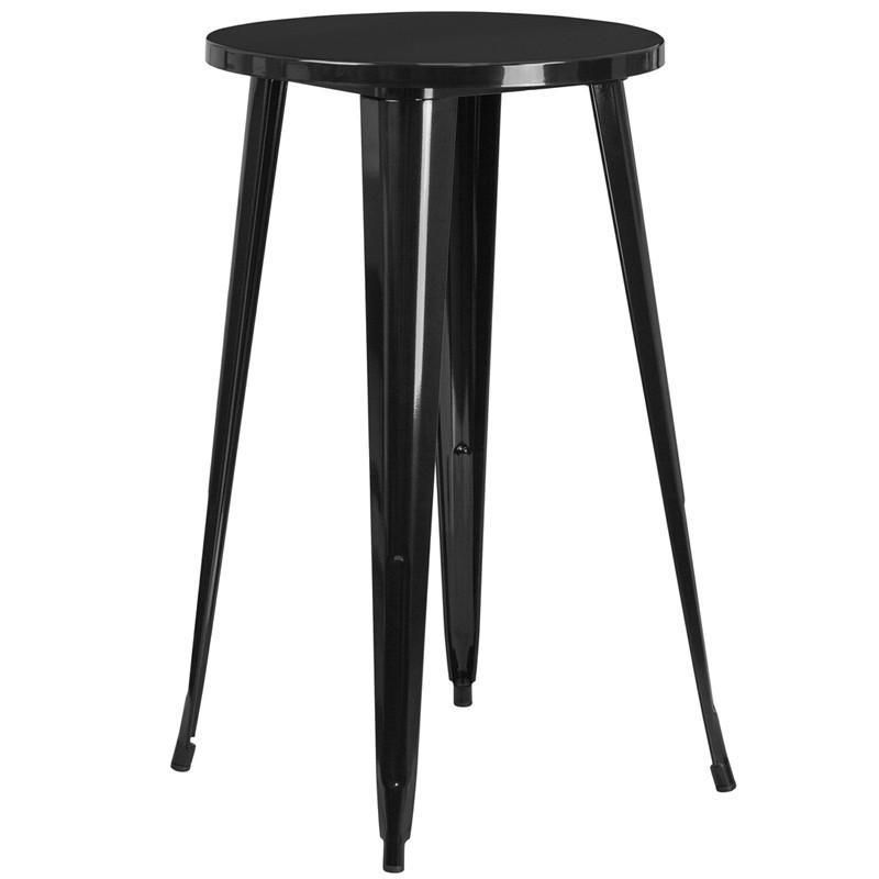 Flash Furniture 31.5/'/' Square Bar Height Black Metal Indoor-Outdoor Table