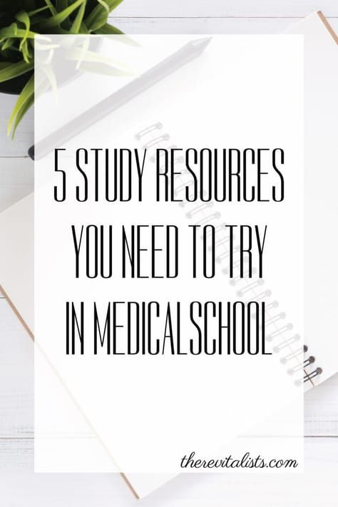 5 Study Resources You Need to Try in Medical School | The Revitalists