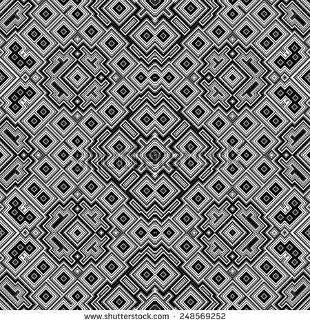 Cubic seamless mosaic tile texture in geometric style