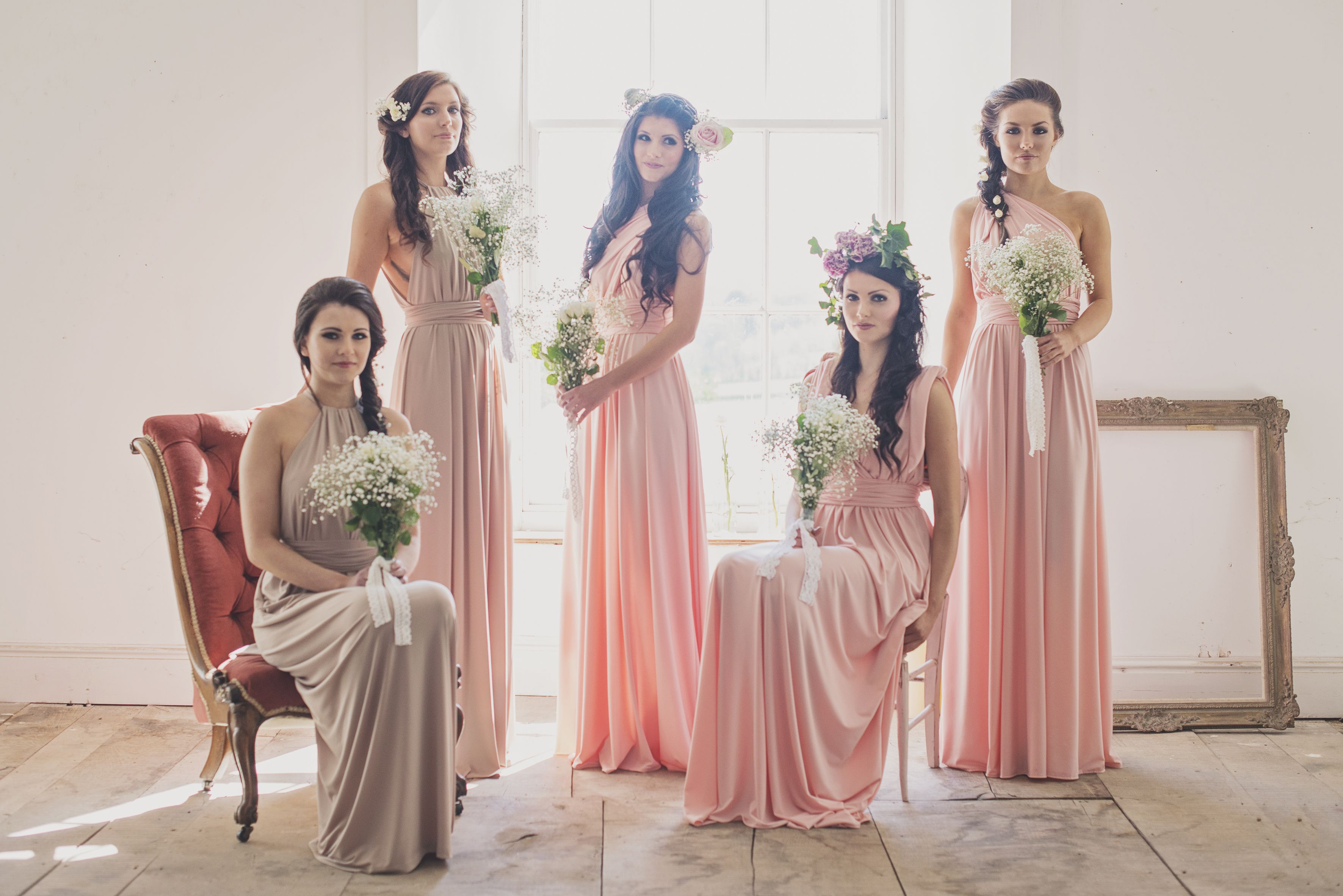 Pastel pink bridesmaid dress  Pastel bridesmaid dresses  Inspiration mariage  Pinterest