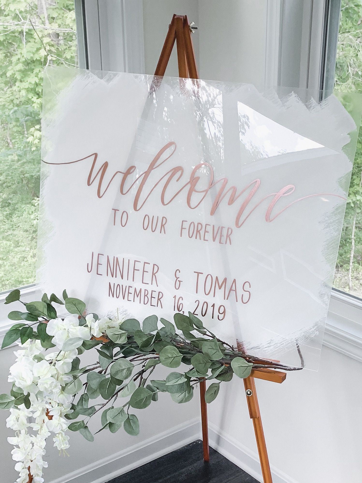 Welcome Sign Wedding | Acrylic Welcome To Our Wedding | Clear Signs | Custom Wedding Sign | Wedding Ceremony Sign | Personalized Sign