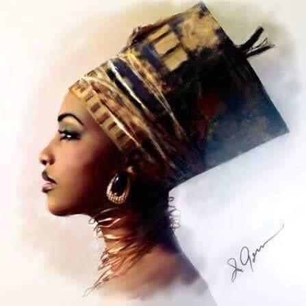 Girls black women queen art