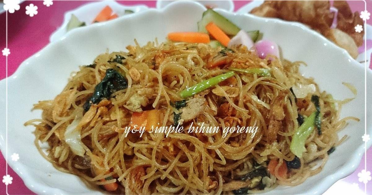 Resep Simple Bihun Goreng Oleh Yny Resep Resep Babi Sayuran Tumis