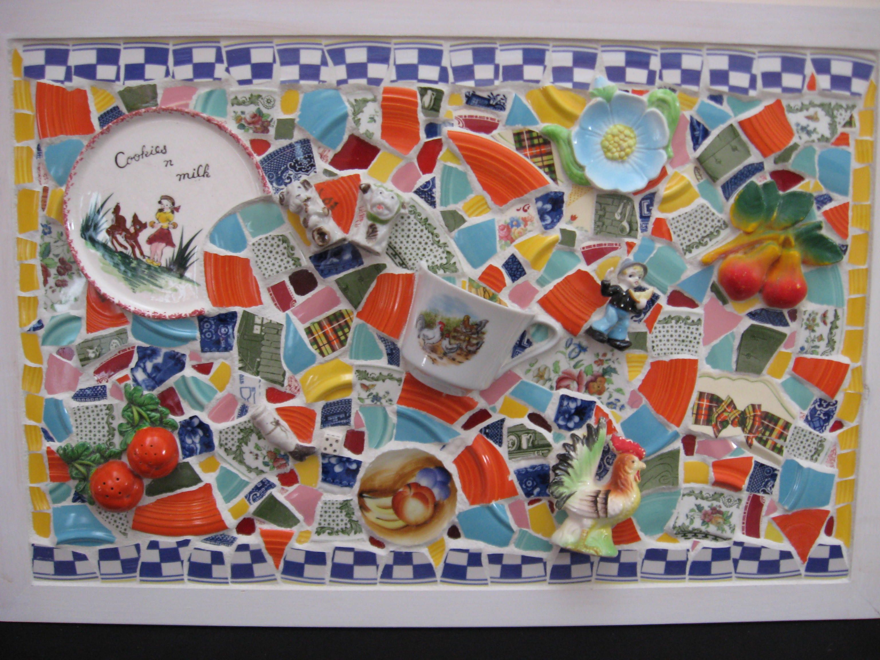 Crafts with Broken Dishes | Mosaics at the New Hampshire State Home ...