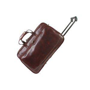 458ac89338 Etrusco Classic - Drake Brown Trolley Bag. Genuine Leather