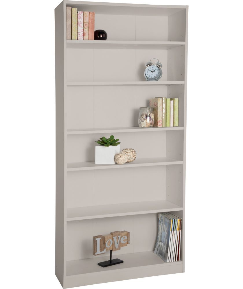 Maine Tall Wide Extra Deep Bookcase Putty At Argos Co Uk