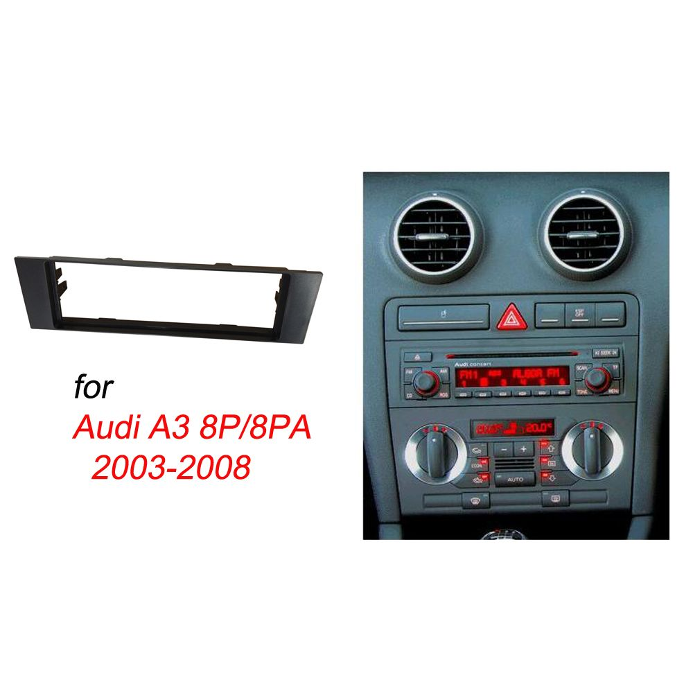 one din fascia for audi a3 8p 8pa radio cd dvd stereo. Black Bedroom Furniture Sets. Home Design Ideas