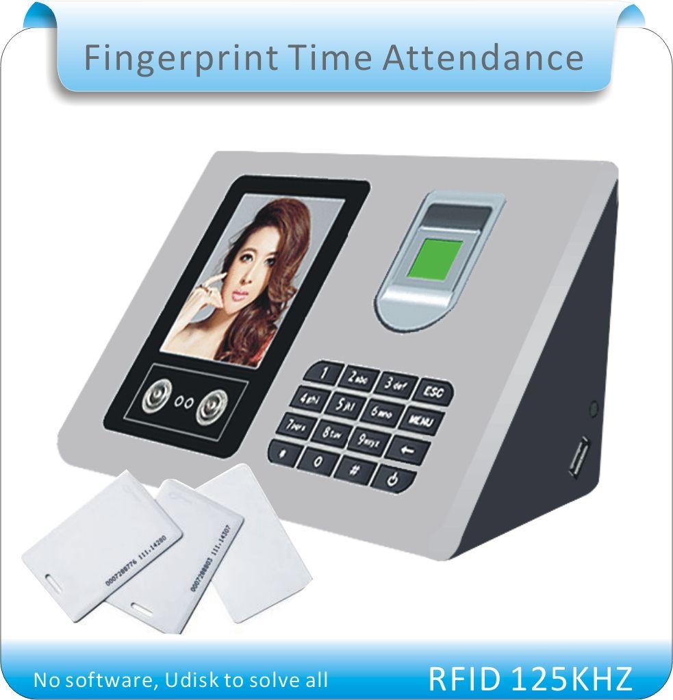 Free shipping More language RFID + fingerprint +face time clock