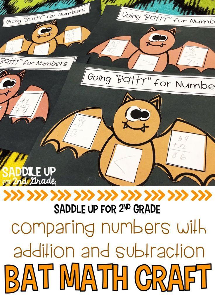 Bat Math Craft in 2018 | Grades 1-2: Ideas & Resources | Pinterest