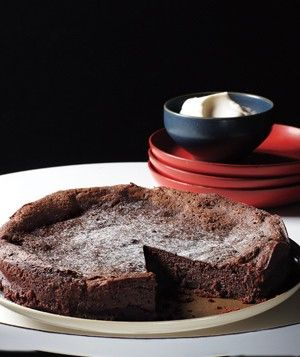 Flourless Chocolate Cake   Get the recipe: http://www.realsimple.com/food-recipes/browse-all-recipes/flourless-chocolate-cake-00000000044848/index.html
