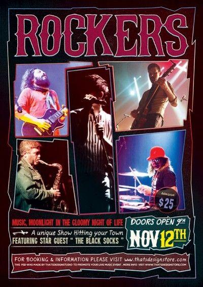 Rock Concert Free Flyer Pinterest Concert Flyer Flyer Template