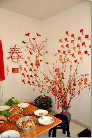 Cny decoration home idea pinterest decoration creative crafts and craft - Magnificent new year office decoration ...