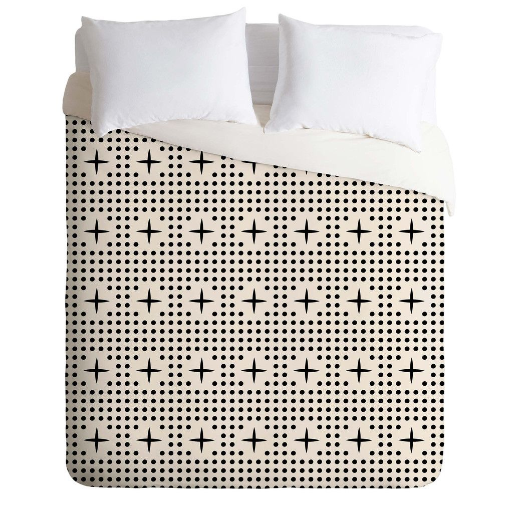 Holli Zollinger Dot And Plus Mudcloth Duvet Cover | DENY Designs Home Accessories