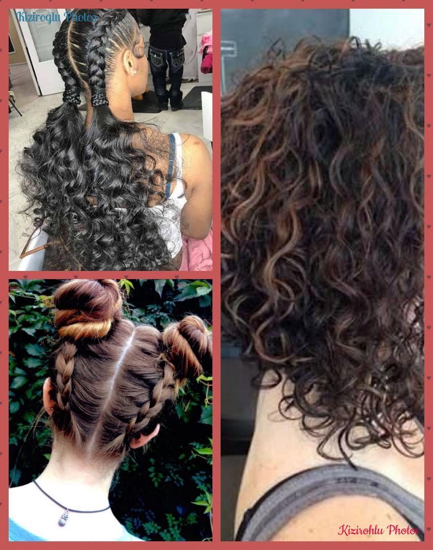 schwarzes haar mit fransen