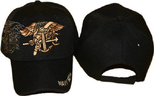DELUXE U.S. NAVAL NAVY USN SEAL TEAM WARFARE TRIDENT INSIGNIA BALL CAP HAT  COVER in Clothing af46cbe12715