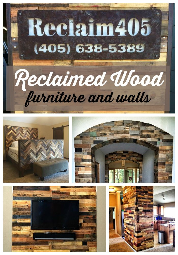Reclaimed wood furniture and accent wall ideas. Lots of great examples to bring the reclaimed wood style into your home. | Hollywood Housewife