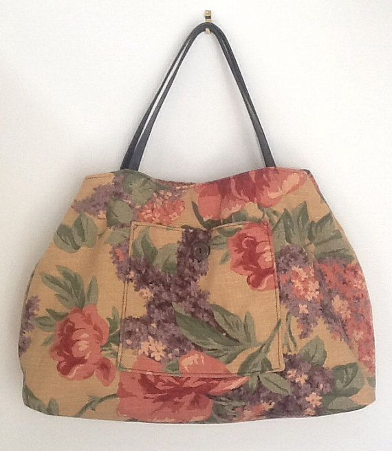 A one off original vintage bag using by JackieBicknellArt on Etsy, £35.00