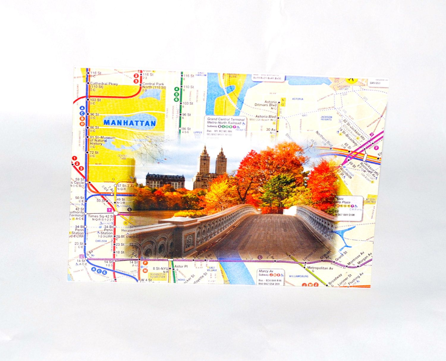 Nyc Subway Map Central Park.New York Central Park Image Greeting Card By Lagsheystore On Etsy