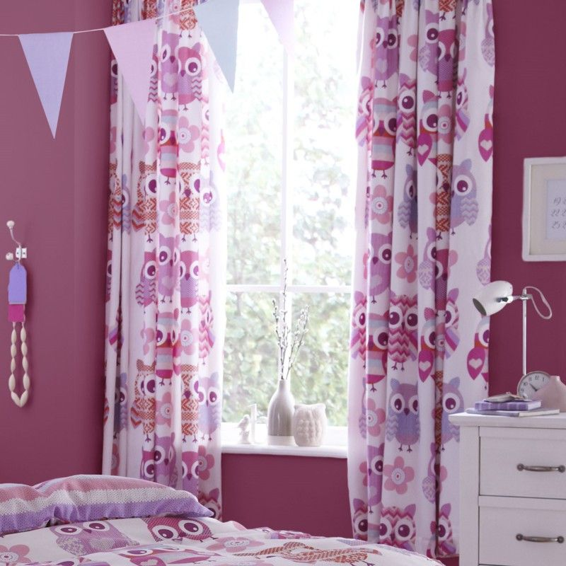 Nursery girl curtains OWL pattern | Bedding 3 | Pinterest | Kids ...