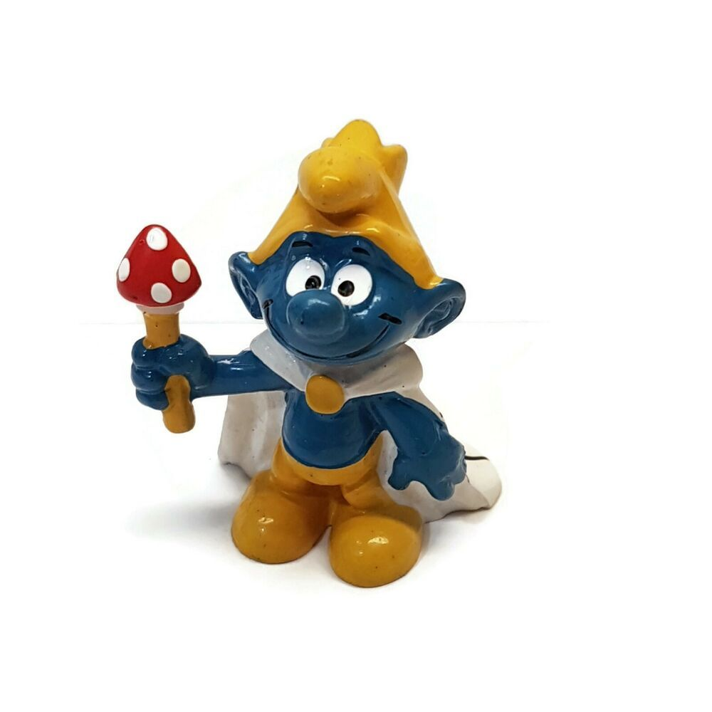 Smurfs 20074 King Smurf Vintage Peyo Bully Pvc Figure West Germany Bullyland In 2020 Smurfs Happy Meal Toys Vintage Toys