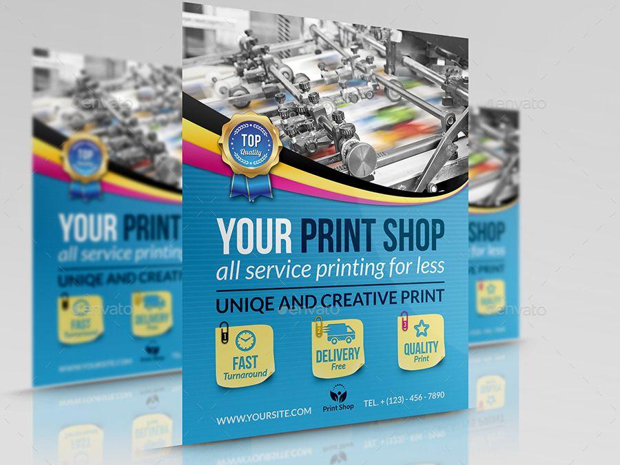 Print Shop Advertising Bundle Template Shop Print Advertising Template Photographer Business Card Template Flyer Print