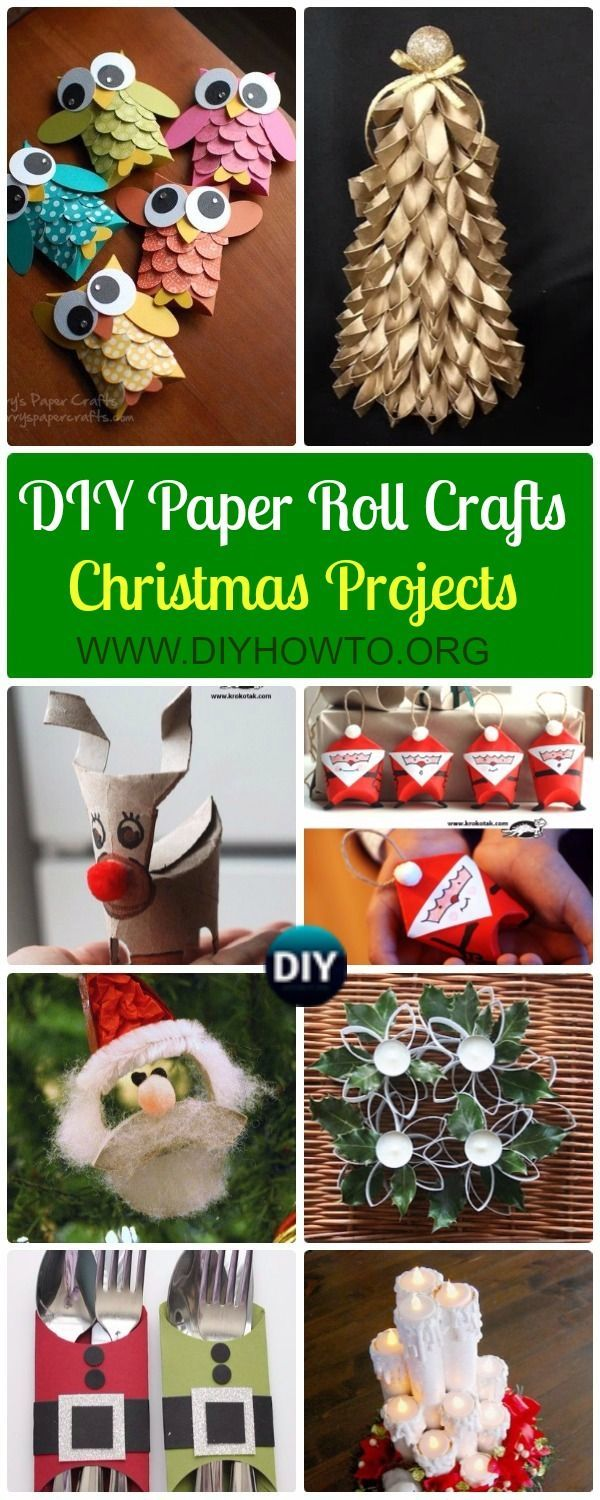 Christmas Crafting Projects.Diy Paper Roll Christmas Craft Ideas Projects Instructions