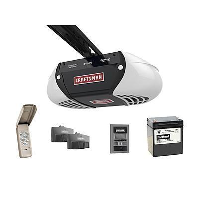 Craftsman 190 Hps Ultra Quiet Belt Drive Garage Door Opener With Diehard 174 Battery Backup Two Multi Garage Door Monitor Garage Door Lock Garage Doors