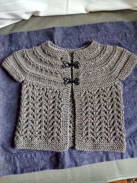 c440c6ca1d65 Baby Sweater on Two Needles (February) pattern by Elizabeth ...