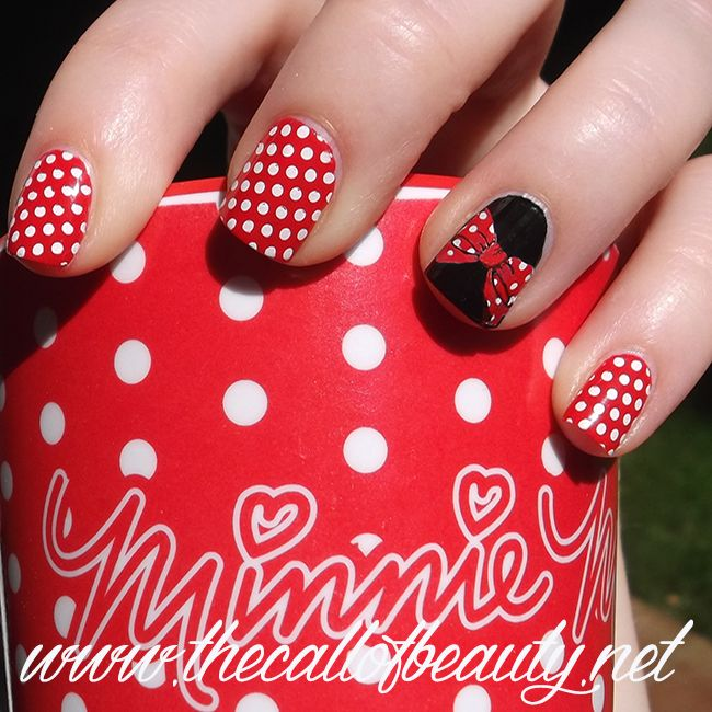 The Call of Beauty: Twinsie Tuesday: Minnie Mouse Manicure | Nail ...