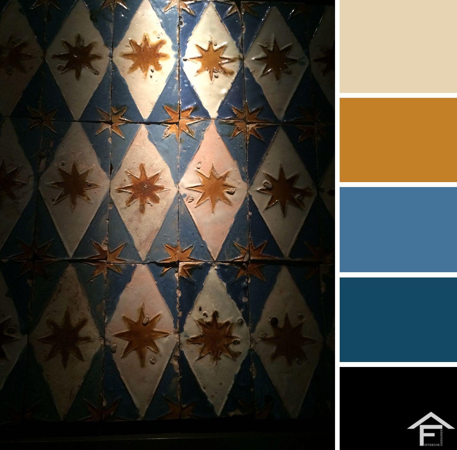 Palette colore maioliche decorazione arredamento for Stili arredamento interni