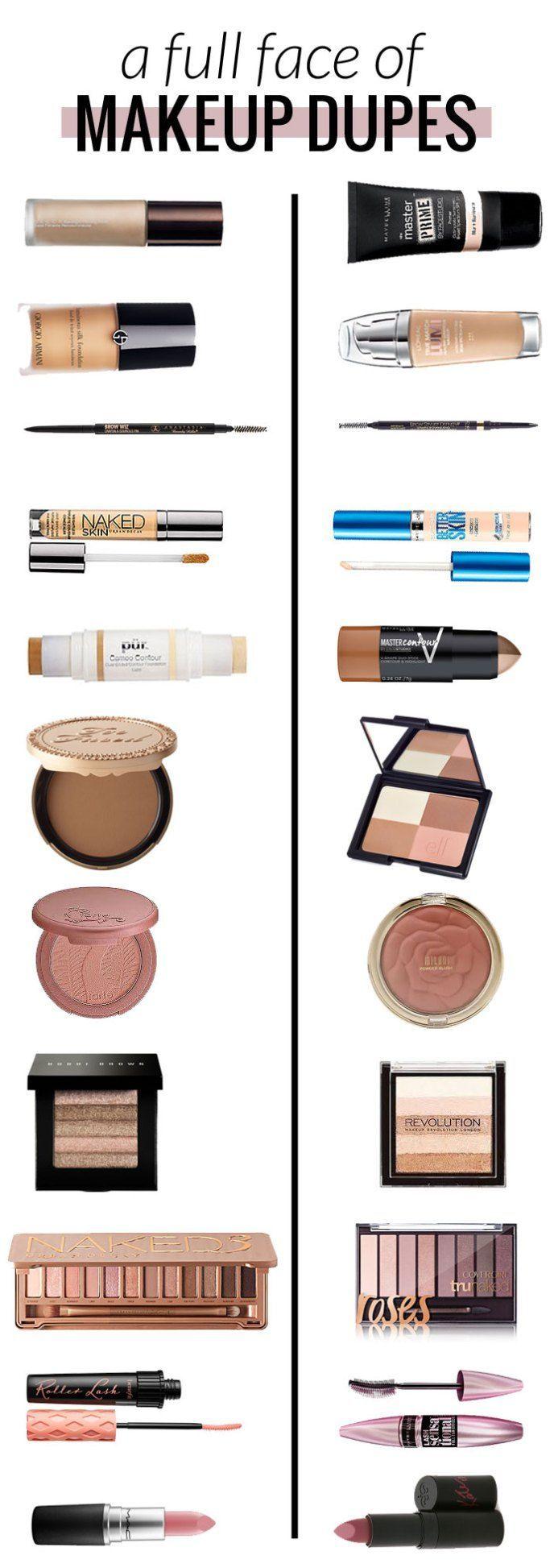 Makeup Dupes Makeup, Drugstore makeup, Makeup dupes