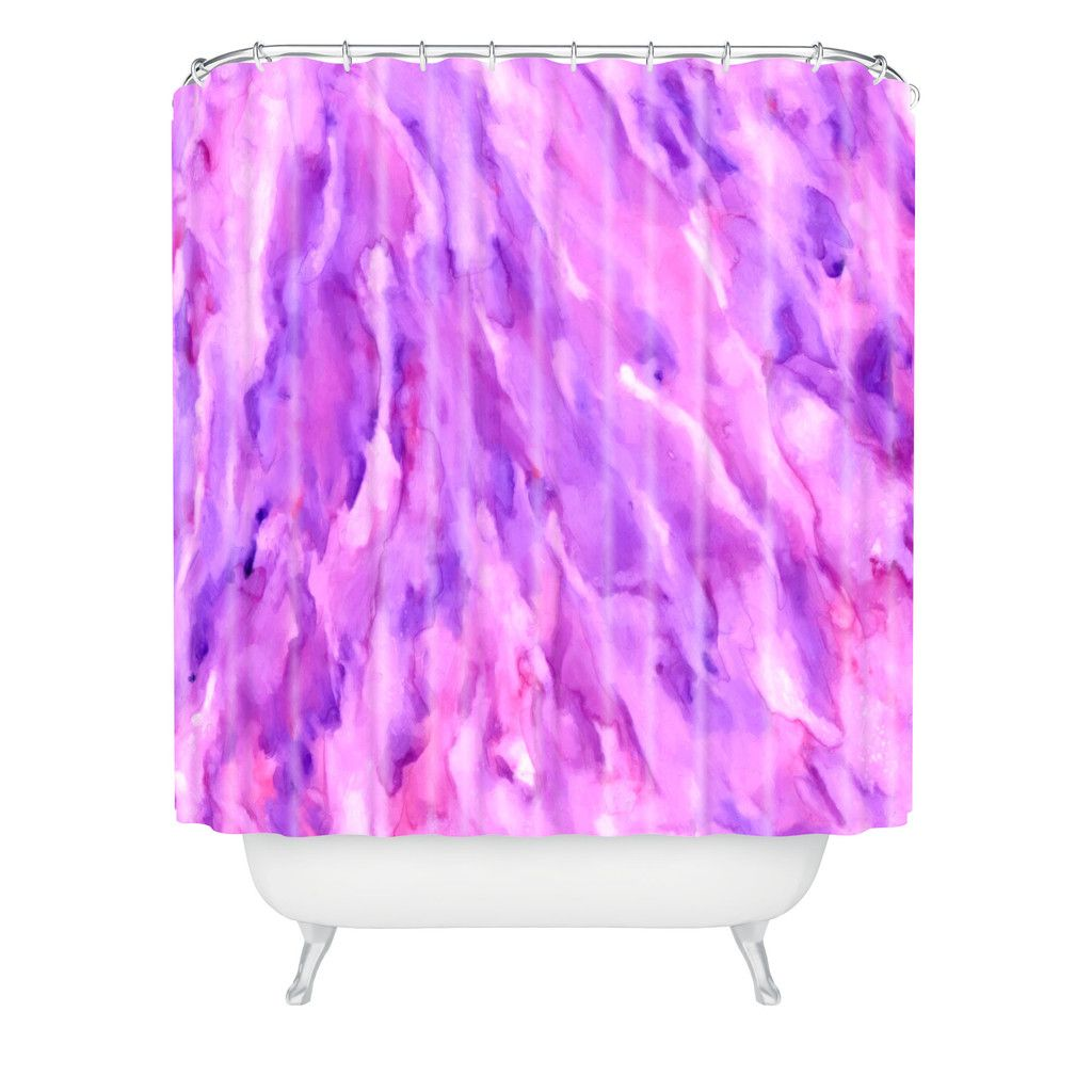 Rosie Brown Magenta Marble Shower Curtain | DENY Designs Home Accessories   #shower #curtain #beth #homedecor #art #abstract #denydesigns