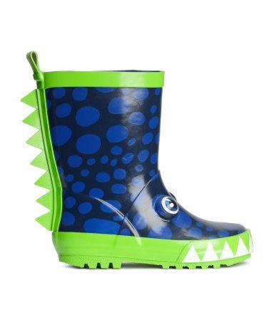 Hibigo Children S Natural Rubber Rain Boots With Handles Easy For Little Kids Toddler Boys Girls Green Dinosaur Toddler Rain Boots Boots Kids Boots