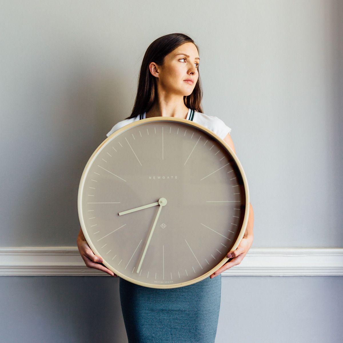 Scandi Inspired Plywood Wall Clock Grey Newgate Mr Clarke 147ply53 Homeware Scandinavian Wall Clocks Large Wall Clock Modern Oversized Wall Clock