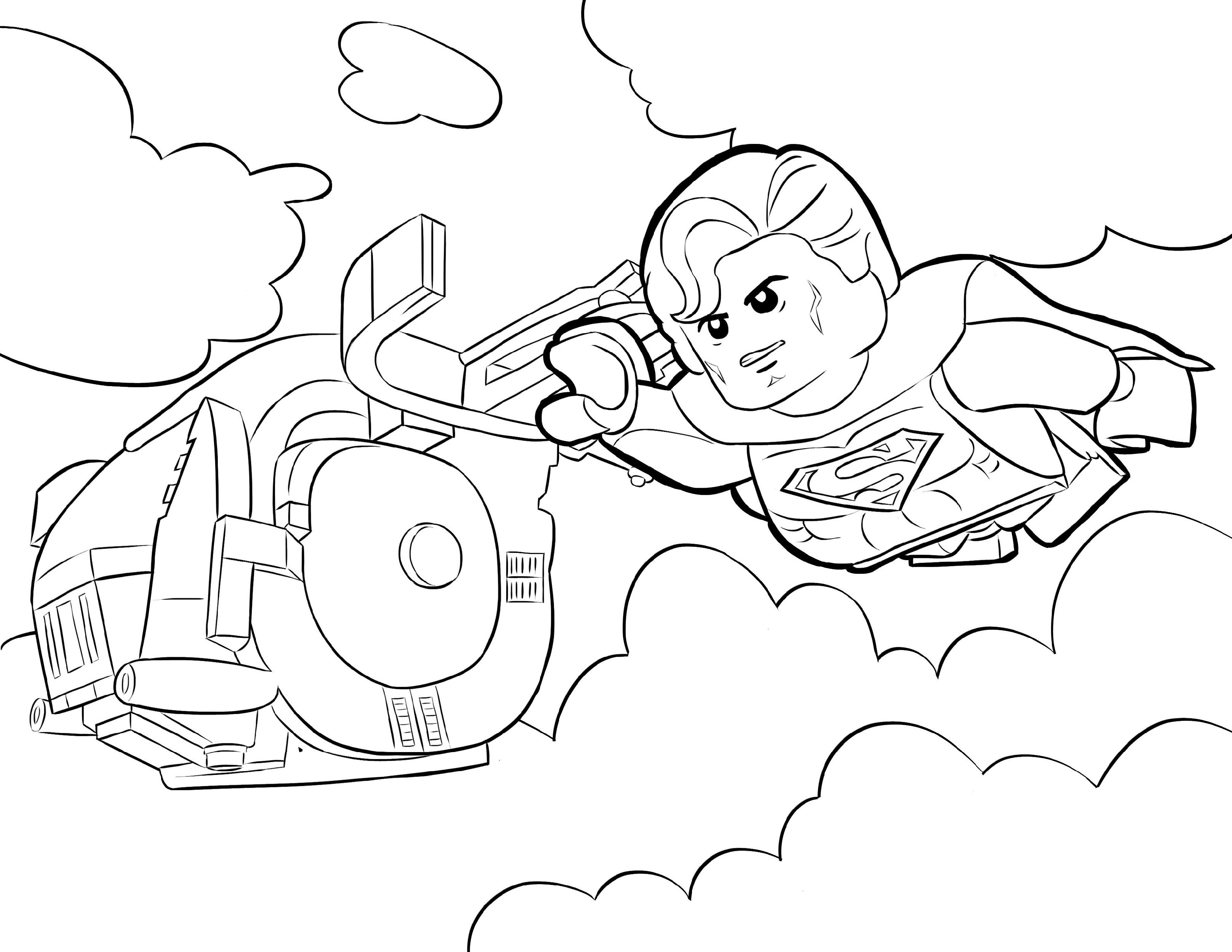 Lego Superman Coloring Pages Lego Movie Coloring Pages Superman