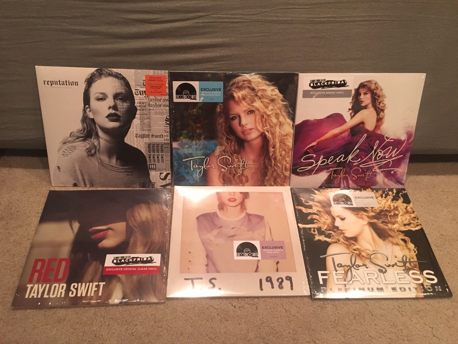 Taylor Swift Complete 1989 Reputation Colored Vinyl 12 Lp Rsd 2018 Fye D Lot Taylor Swift Vinyl Swift