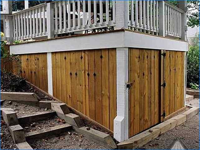 Diy Under Deck Storage Shed   Backyard   Under deck ...