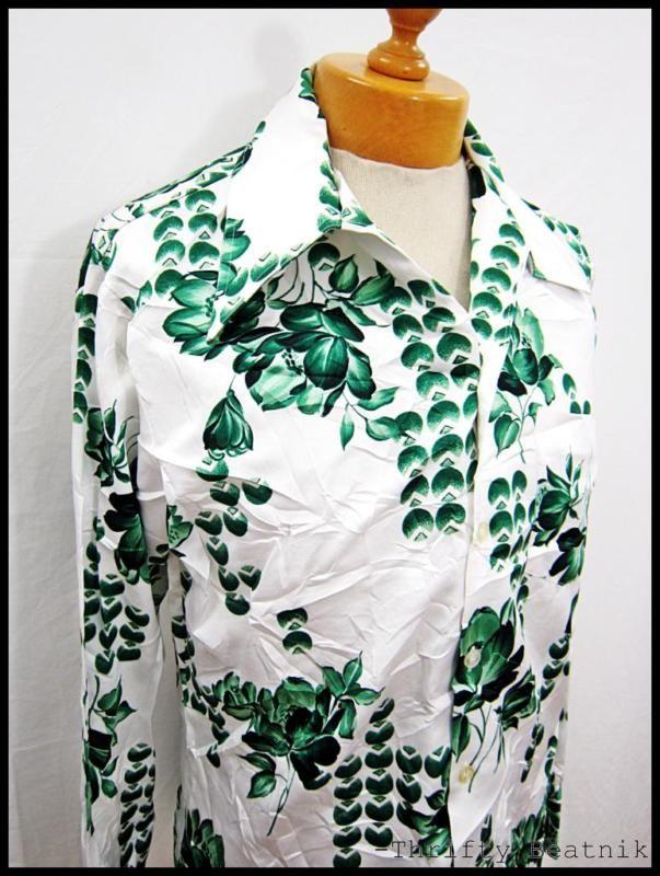 Vintage 1970s 70s Disco Nature Cloud Epic-Cool Shirt Large | eBay