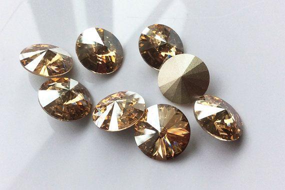 ab324e142 Genuine Swarovski Crystal Rivoli (1122), 14mm, Light Topaz, 2 Pieces ...