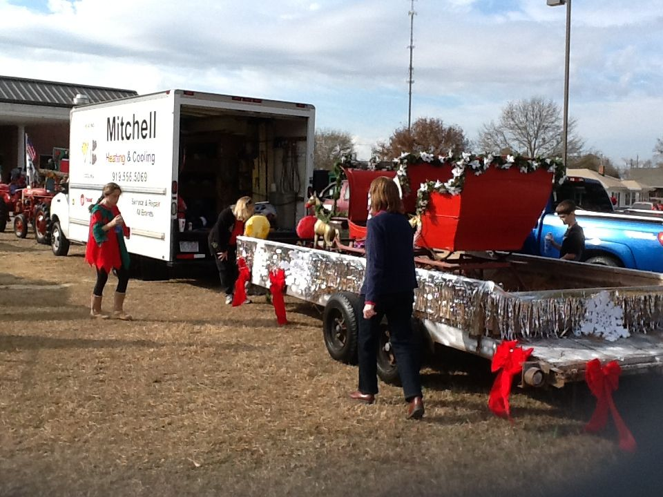 Getting Ready To Ride The Mitchell Heating Cooling Float In The