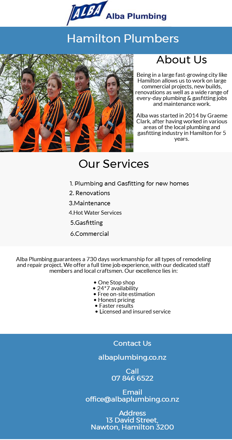 Alba plumbing is here with top notch hamilton plumbing solutions