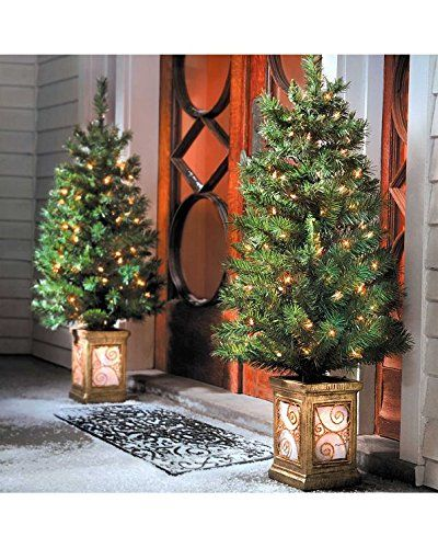 3 ft Pre-Lit Christmas Trees Decoration - Set of 2 Perfect for
