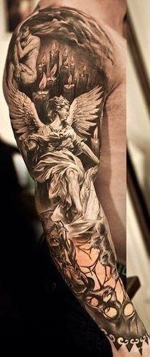 35 Religious Sleeve Tattoos for Guys -   24 religious tattoo sleeve ideas