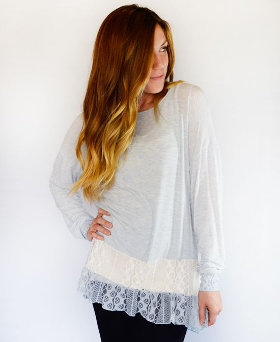 Baby Blue Ruth Top Very cute style !