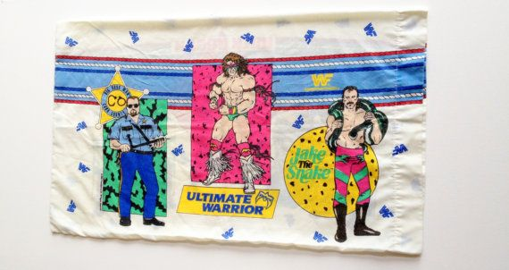 Wrestling Bedroom Decor Fascinating Vintage Wwf Wrestling Pillowcase On Etsy $2200  Rock The House Decorating Inspiration