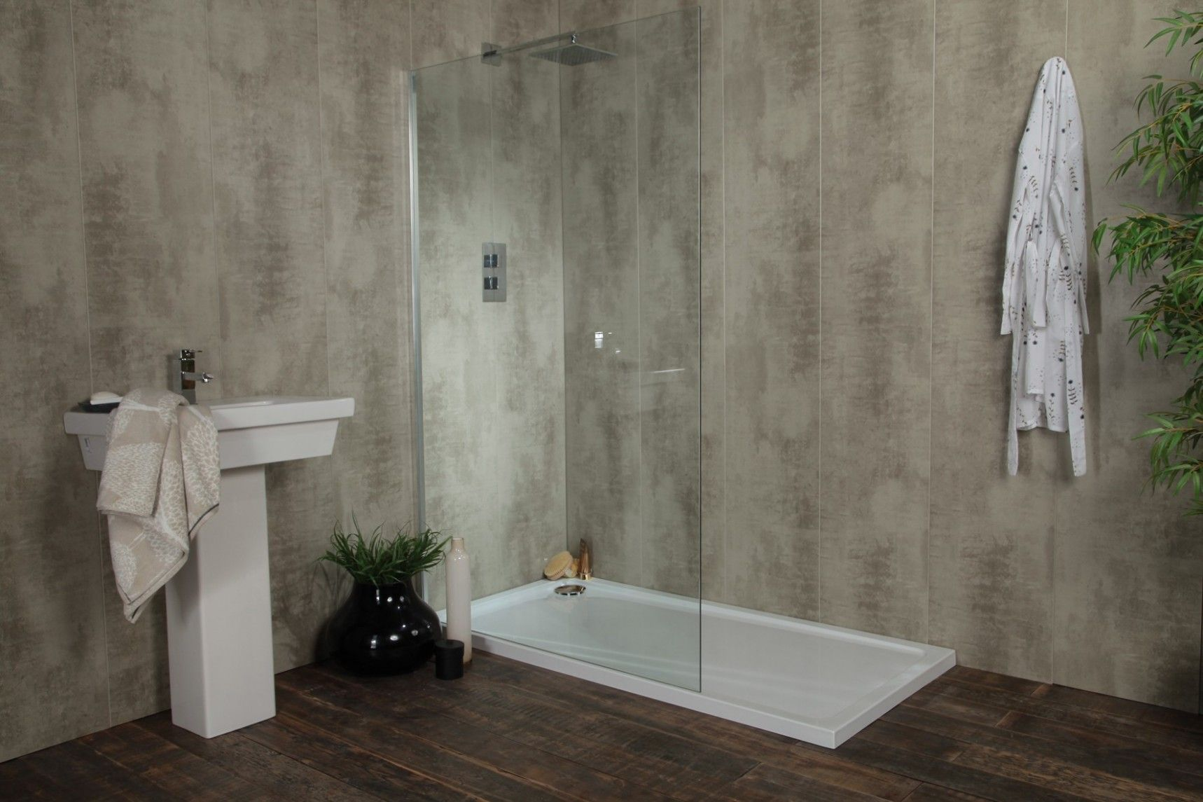 Swish Marbrex White Wood Bathroom Wall Cladding Bathroom Wall Cladding Wood Wall Bathroom Wall Cladding
