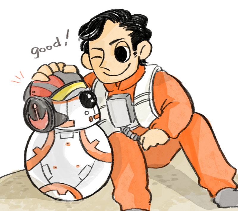 Bb 8 And Poe Dameron From Star Wars The Force Awakens
