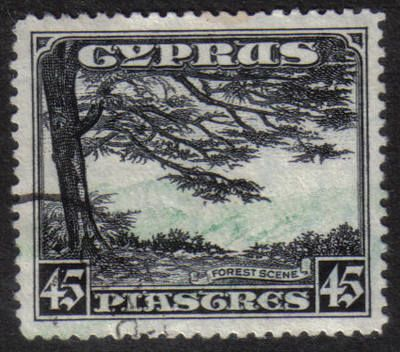 Cyprus Stamps SG 143 1934 KGV Definitives 45 Piastres with various clipped perforations