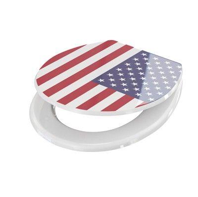 WC Sitz USA Flagge Wc Sitz Farben Wc Sitze Weiss 311768 | Glasbilder ...